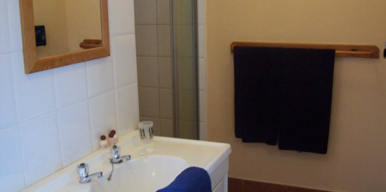 En suite bathroom in one of our self catering rooms