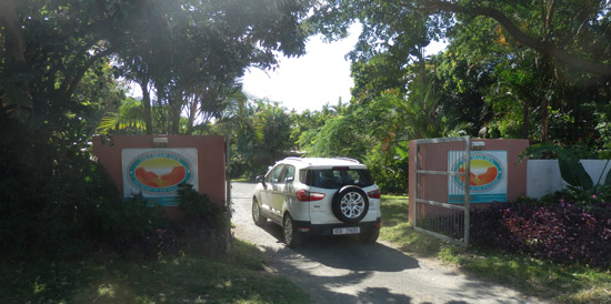 Our entrance - Main Road, Port St Johns