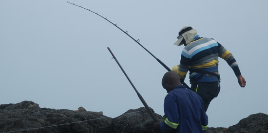Kite fishing near Port St Johns