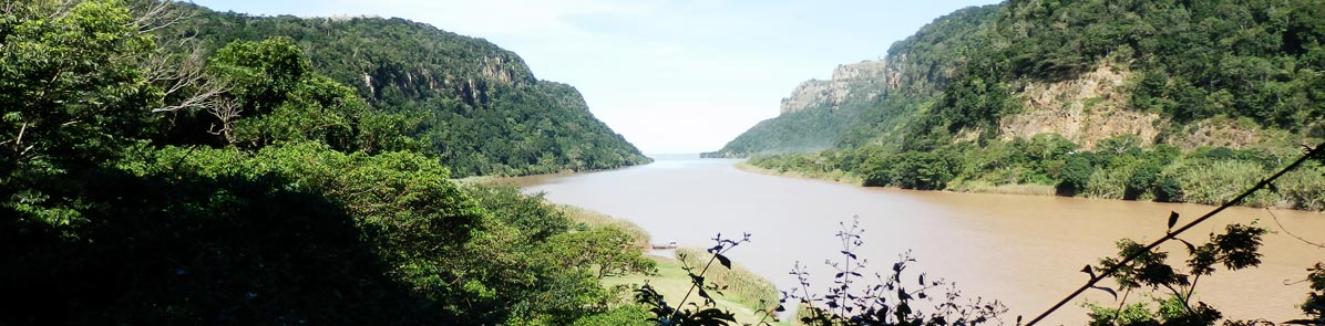 View of the Mzimvubu River from The Gates of Port St Johns