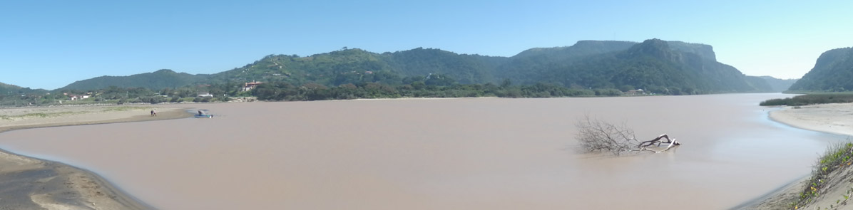The Mzimvubu River estuary, Port St Johns