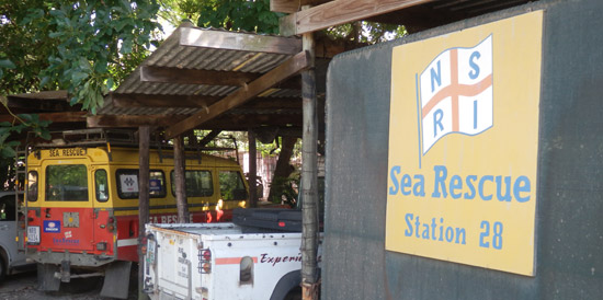 The local NSRI Station is situated in The Outspan Inn's grounds
