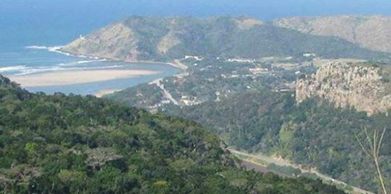 A view of Port St Johns from Mount Sullivan