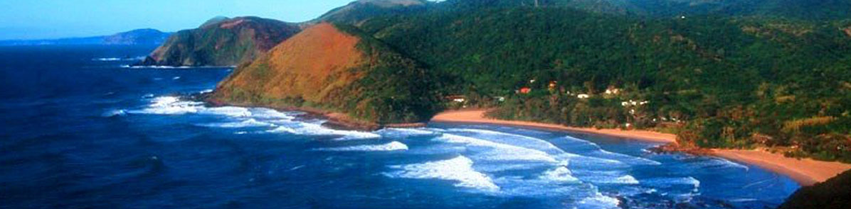 A view of Second Beach, Port St Johns