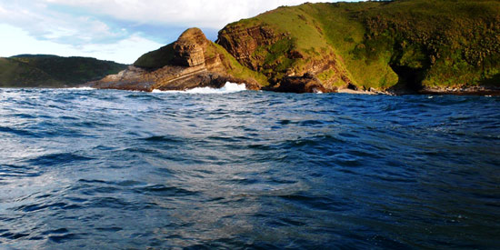 The Gap, at Second Beach in Port St Johns