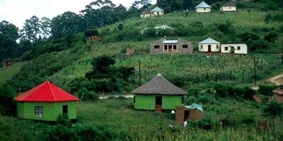 Typical Xhosa huts